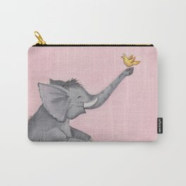 A Little Birdie Told Me - Elephant and Bird Carry-All Pouch