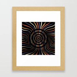 Color op art striped lines with circles Framed Art Print