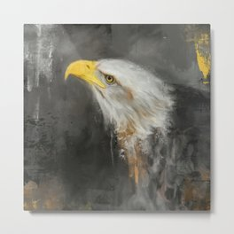 The Mighty Bald Eagle Metal Print