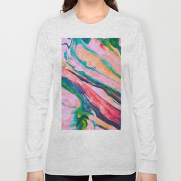Bright and happy marble design Long Sleeve T-shirt