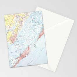 Vintage Map of Ocean City NJ (1952) Stationery Cards