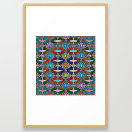 Pizza Party double rainbow gradient doodle Framed Art Print