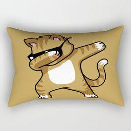 Dabbing Cat Caramel Rectangular Pillow