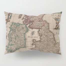 Vintage Map of The British Isles (1617) Pillow Sham
