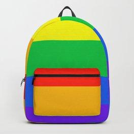 Rainbow Pride Horizontal Stripe Pattern Backpack