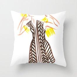 Little Striped Dress Throw Pillow