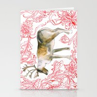 reindeer Stationery Cards featuring Reindeer by Naomi Bardoff
