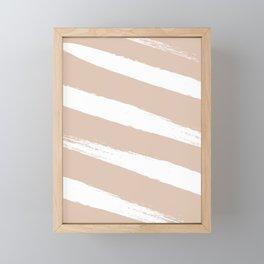 Himalayan Pink & White Stripe Framed Mini Art Print