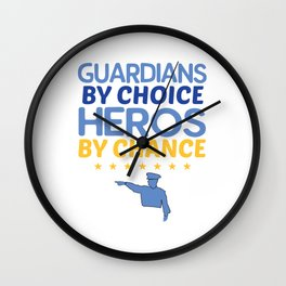 Police Officers Heroes Design Wall Clock