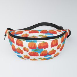 Pumpkins and sky rectangles Fanny Pack