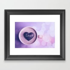 A cup of love Framed Art Print