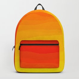 Red to Yellow Sunset Backpack
