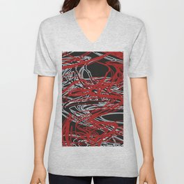 UNKNOWN: ABSTRACT Unisex V-Neck
