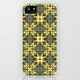 Abstract flower pattern 3c iPhone Case