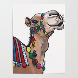 Cute Camel Art, Camel with Tassels Poster