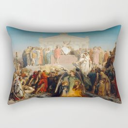 "Jean-Léon Gérôme ""The age of Augustus and the birth of Christ"" 1. Rectangular Pillow"