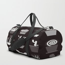 MIX SUCCULENTS2-B&W Duffle Bag