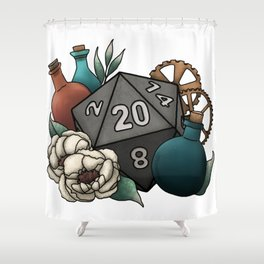 Artificer Class D20 - Tabletop Gaming Dice Shower Curtain