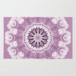 Floral Mandala - Purple Pastel Rug