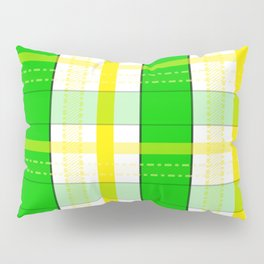 Yellow and Green Plaid Pillow Sham