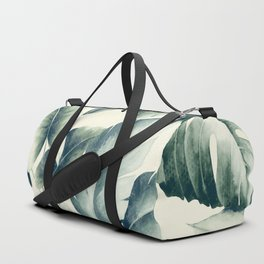 Green palm leaf pattern Duffle Bag