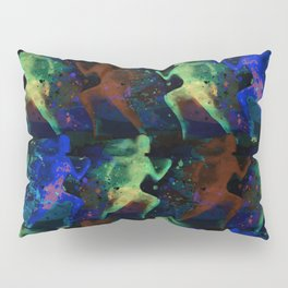 Watercolor women runner pattern on dark background Pillow Sham