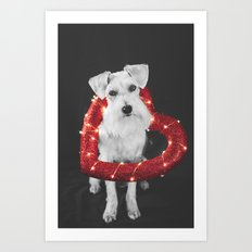 HEART DOG Art Print