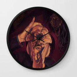 Skull and Shadows Wall Clock