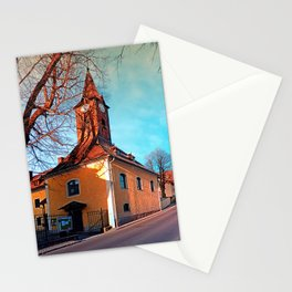 The village church of Waxenberg Stationery Cards