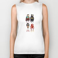 league Biker Tanks featuring Adventure League by randallmaynard