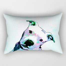 Pit bull - Puzzled - Pop Art Rectangular Pillow