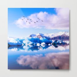 Frozen Journey to the Νorth Metal Print