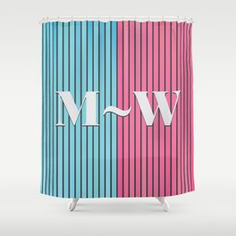 Man and Woman Creative Artwork Shower Curtain