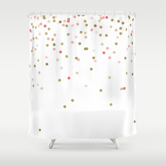 pink and gold shower curtain. Gold  Pink Confetti Shower Curtain by bysamantha Society6