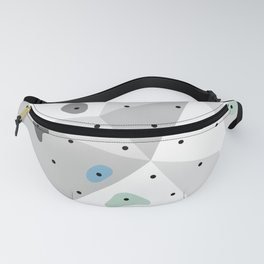 Abstract geometric climbing gym boulders blue mint Fanny Pack
