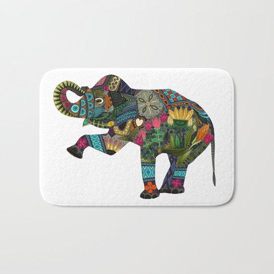 asian elephant white Bath Mat