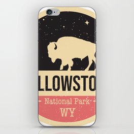 Yellowstone National Park Badge iPhone Skin