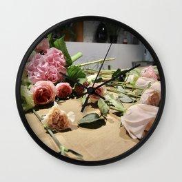 Kazakh Roses Wall Clock