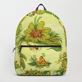 Chartreuse Chinoiserie Backpack