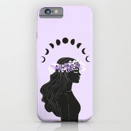 moon meditation iPhone Case