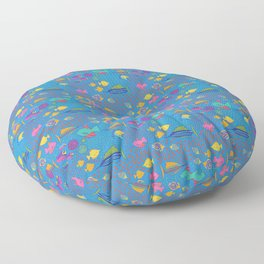 School's Out Fish in the Sea Floor Pillow