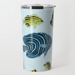 Tropical Fish Pattern - Coastal Beach Travel Mug