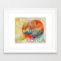 koala Framed Art Prints featuring Koala by Alvaro Tapia Hidalgo