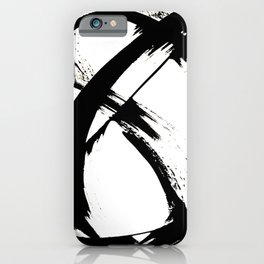Brushstroke [7]: a minimal, abstract piece in black and white iPhone Case