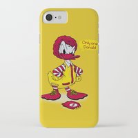 donald duck iPhone & iPod Cases featuring Donald by 2mzdesign