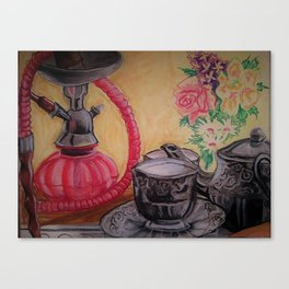 Hooka and Tea Canvas Print