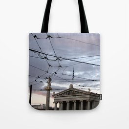 Wired Sky Tote Bag