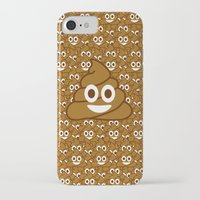 emoji iPhone & iPod Cases featuring Poop Emoji by Fabian Bross