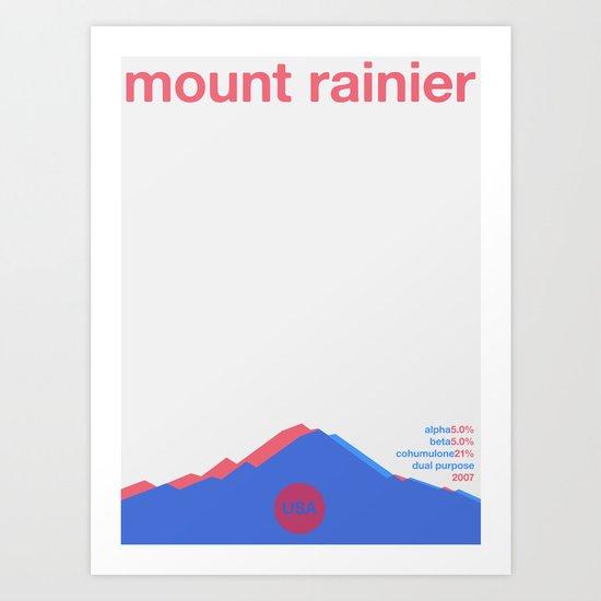 mount rainier single hop Art Print