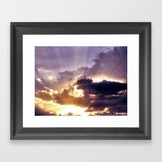 Suns Rays Framed Art Print